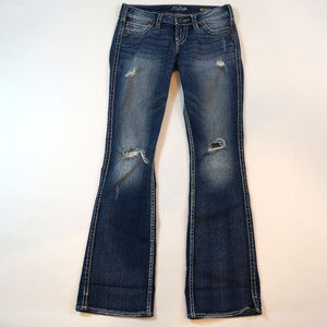 Silver Jeans Twisted Boot Cut Size 26 Distressed